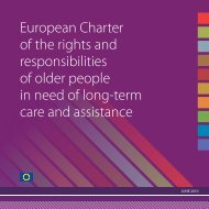 European Charter of the rights and responsibilities of older people in ...
