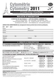 Bulletin d'inscription - Alpha Visa Congrès