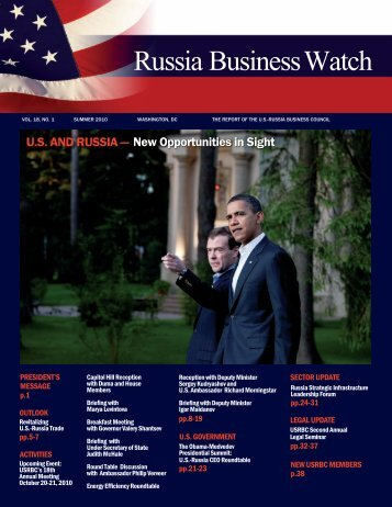 Volume 18, Number 1 - US-Russia Business Council