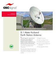 8.1 Meter Ka-band Earth Station Antenna - Vincor