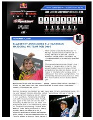 Press Release - Blackfoot Motosports