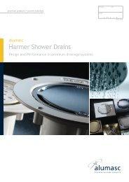 Harmer Vertical ABS shower Drain And White Quadrant Cap CVS//CQ