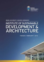 TUESDAY, FEBRUARY 7, 2012 - Bond University