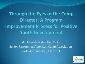 Through the Eyes of the Camp Director - American Camp Association