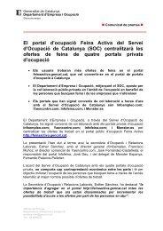 Nota de premsa amb gràfic - Generalitat de Catalunya