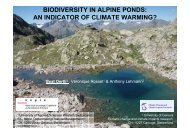 biodiversity in alpine ponds: an indicator of climate warming? - CHy