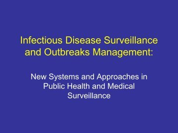 Infectious Disease Surveillance and Outbreaks ... - HIMSS AsiaPac