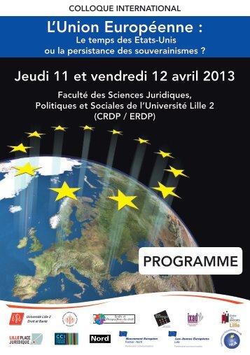 L'Union Européenne : - Droits et Perspectives du droit