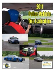 2011 Police Vehicle Tire Evaluation - State of Michigan