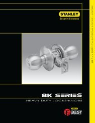 Heavy Duty CyLInDRIcaL Locks – knobs - Best Access Systems