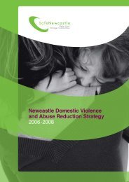 Safe Newcastle Domestic Violence Strategy - Newcastle City Council