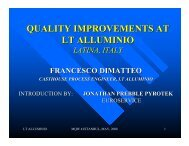 QUALITY IMPROVEMENTS AT LT ALLUMINIO