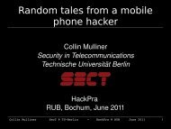 Random tales from  a mobile phone hacker