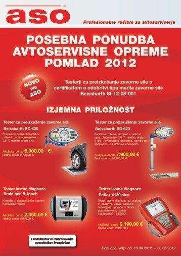 posebna ponudba avtoservIsne opreme pomlad 2012 - ASO doo