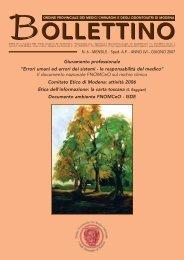 Giugno 2007 (pdf - 488 KB) - Ordine Provinciale dei Medici ...