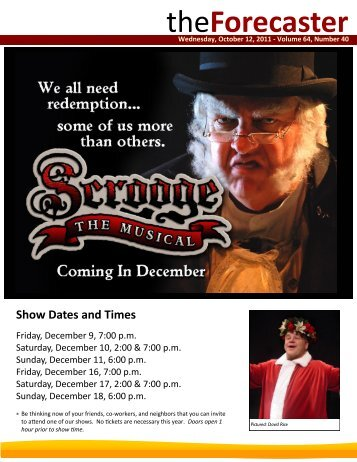 Oct 12: Cover Story - Scrooge: The Musical - Fairmount Christian ...