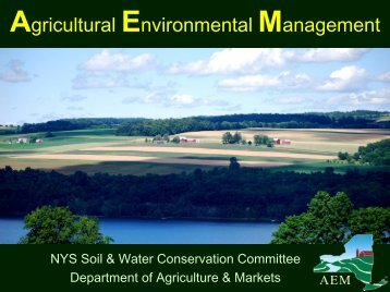 Agricultural Environmental Management - NYS Soil & Water ...