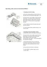 Operating, safety and care instructions HEKI 2