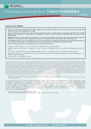 Parvest Asian Convertible Bond 百利達亞洲可換股 ... - BNP Paribas