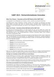 Presseinformation Innovabee CeBIT 2013