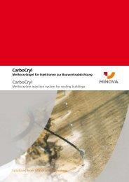 CarboCryl CarboCryl - Minova CarboTech GmbH
