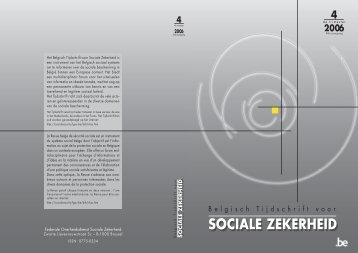 Nummer 4/2006 (.pdf) - FOD Sociale Zekerheid
