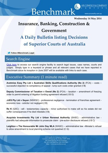 benchmark_14-05-2014_insurance_banking_construction_government