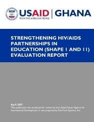 strengthening hiv/aids partnerships in education - World Education ...