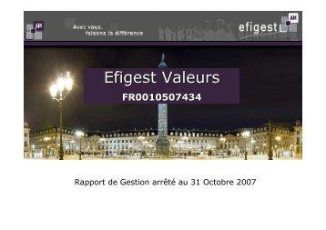 Efigest Valeurs