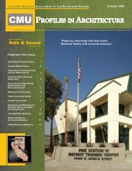 October 2009.indd - Concrete Masonry Association of California and ...