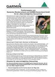 Hinweise für naturverträgliches Geocaching des Deutschen ...