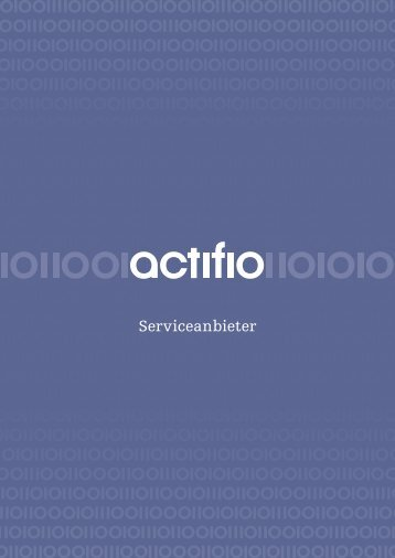 Serviceanbieter - Actifio