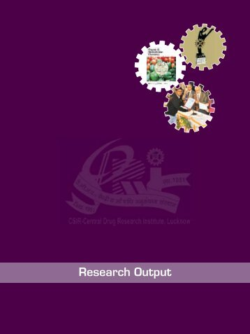Research Output - Central Drug Research Institute