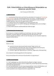 ELAN - Förderrichtlinien zur Unterstützung von Kleinprojekten aus ...