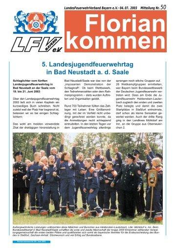 5. Landesjugendfeuerwehrtag in Bad Neustadt a. d. Saale