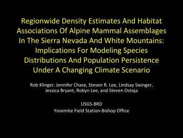 region-wide density estimates and habitat associations of alpine ...