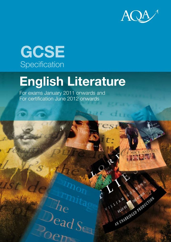 aqa gce english literature coursework mark scheme