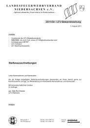Stellenausschreibungen - Landesfeuerwehrverband Niedersachsen