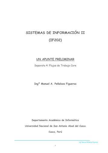 SISTEMAS DE INFORMACIÓN II (IF202) - Ingeniería Informática y ...