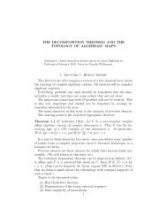 The decomposition theorem and the topology of algebraic ... - Up To