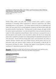 GARNET Working Paper No. 03/06