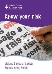 Know your risk - World Cancer Research Fund