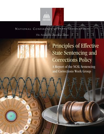 Principles of Effective State Sentencing and Corrections Policy