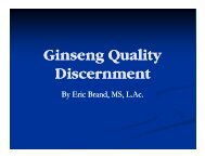 l Ginseng Quality Discernment - Atkins Ginseng Farm