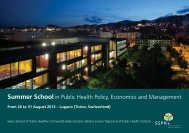 Summer School in Public Health Policy, Economics and Management