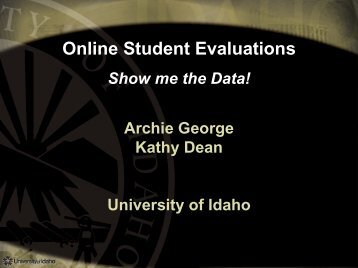 Online Course Evaluations - AACRAO