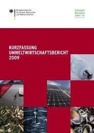 Umweltwirtschaftsbericht 2009 in Kurzform als PDF Download