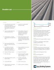 Double-Lok - Ceco Building Systems