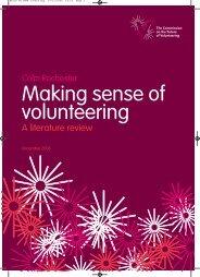 Making sense of volunteering ROCHESTER 2006 - Practical ...