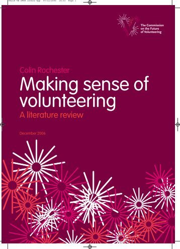 Making sense of volunteering ROCHESTER 2006 - Practical ...